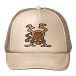 Cute monkey upside down trucker hats