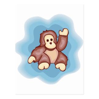 Cute Monkey Wave Postcard