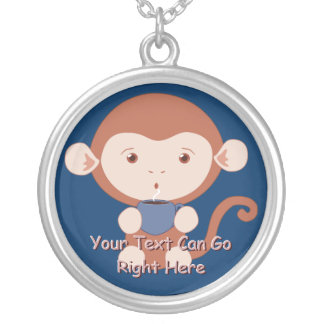 Cute Monkey with Coffee Necklace