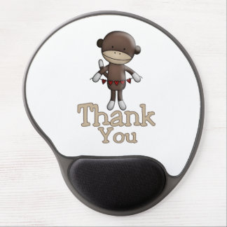 Cute Monkey With Hearts Thank You Gel Mouse Pad