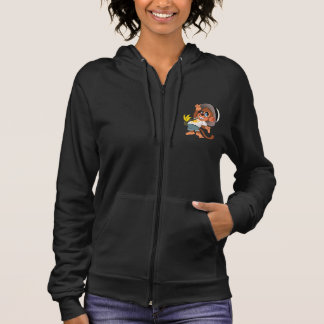 Cute monkey Women's Fleece Sleeveless Zip Hoodie