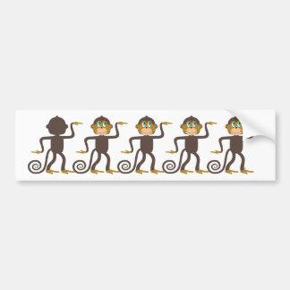 Cute monkeys pattern, boys, girls, personalized bumper sticker