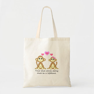 Cute Monkeys - True Love Comes Along Once in a... Tote Bag