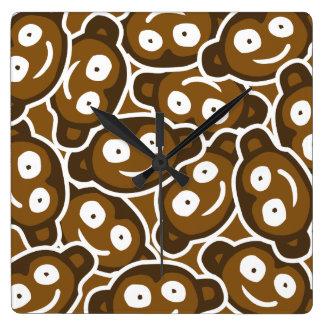 Cute Monkeys Zoo Animals Kids  Wall Clock