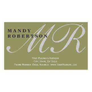 Cute Monogram Interior Designer Business Card