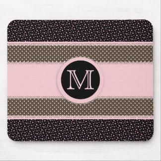 Cute Monogram Mouse Pad