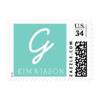 Cute Monogram & Names: FULLY COSTOMIZABLE Postage