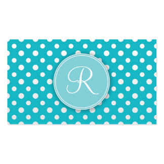 Cute Monogram Personal Networking Business cards