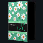 "Cute Monogrammed Green Daisy Floral Flowers Powis iPad Air 2 Case<br><div class=""desc"">Cute Girly Monogrammed Monogram Green Daisy Floral Flowers - Pretty Unique and Personalized iPad Air 2 Case for you.</div>"