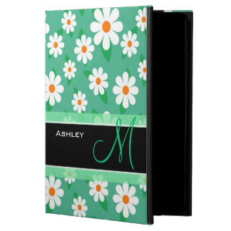 Cute Monogrammed Green Daisy Floral Flowers Powis iPad Air 2 Case