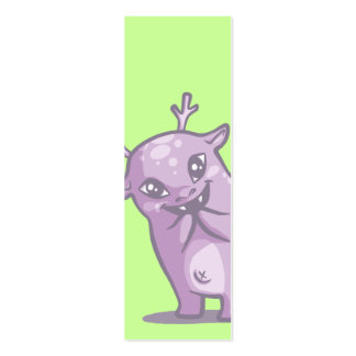 Cute Monster Bookmark Mini Business Card