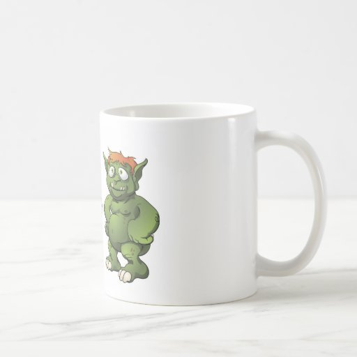 Cute monster cartoon characters classic white coffee mug