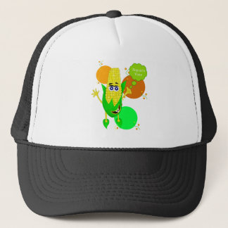 Cute monster corn illustration trucker hat