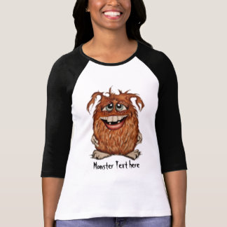 Cute Monster Customizable T-Shirt