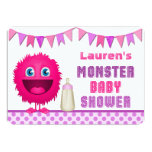 Cute Monster Girl Baby Shower Personalized Invite
