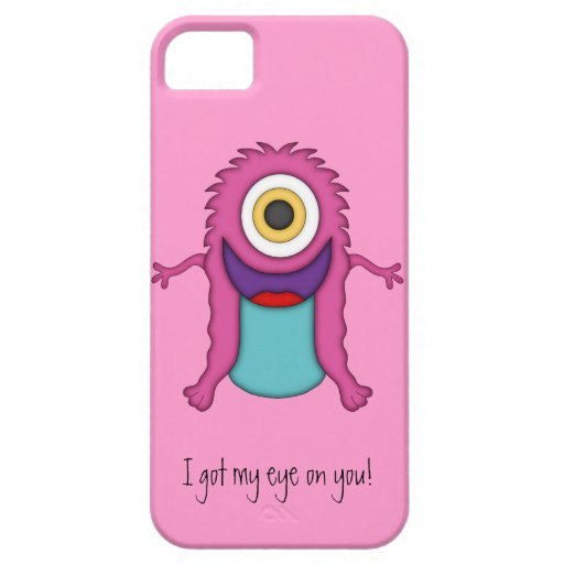 Cute Monster-Got my eye on you! iPhone 5 Covers