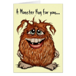 Cute Monster Hugs Greeting Card