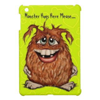 Cute Monster Hugs with Green Hearts iPad Mini Case