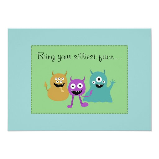 Cute Monster Party Invitation