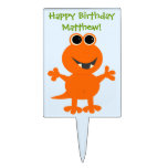 Cute Monster Personalized Cake Pick