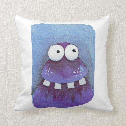 Cute monster pillow Zazzle