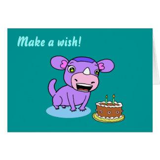 Cute monster-rhinoceros card
