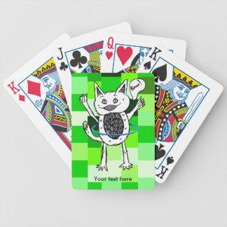 Cute Monster Roar Green Pattern Hula Hoop Bicycle Playing Cards