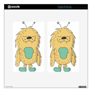 cute monster skins for kindle fire