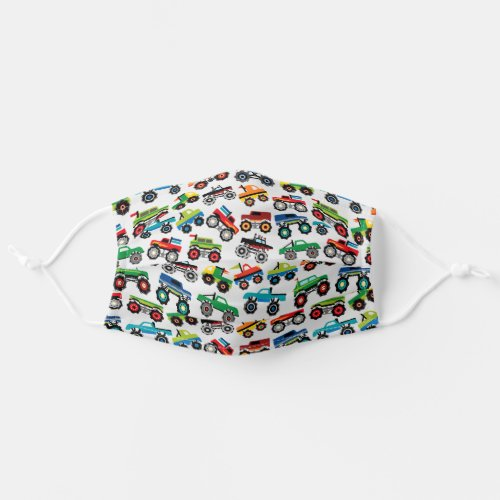 Cute Monster Truck Pattern Cloth Face Mask