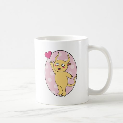 Cute Monster Valentine Coffee Mugs