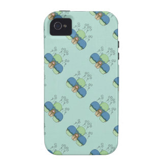 Cute Monster With Blue And Cyan Frosted Cupcakes Vibe iPhone 4 Case