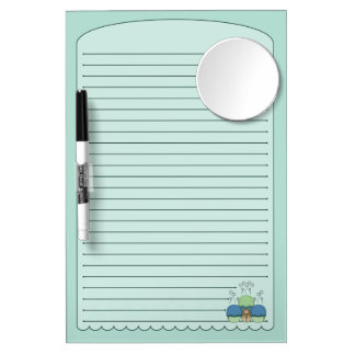 Cute Monster With Blue And Cyan Frosted Cupcakes Dry Erase Whiteboard