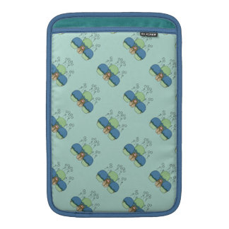 Cute Monster With Blue And Cyan Frosted Cupcakes Sleeve For MacBook Air