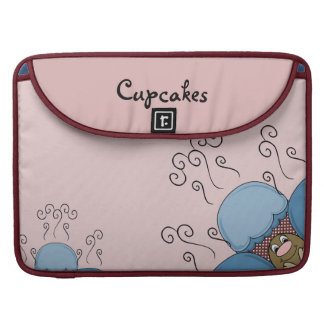 Cute Monster With Blue And Red Frosted Cupcakes MacBook Pro Sleeves
