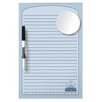 Cute Monster With Blue Frosted Cupcakes Dry-Erase Boards