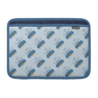Cute Monster With Blue Frosted Cupcakes MacBook Sleeves