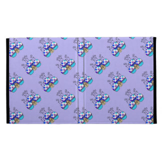 Cute Monster With Blue & Purple Polkadot Cupcakes iPad Cases