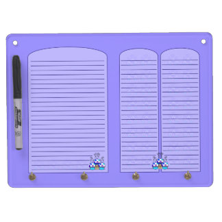 Cute Monster With Blue & Purple Polkadot Cupcakes Dry Erase Whiteboard