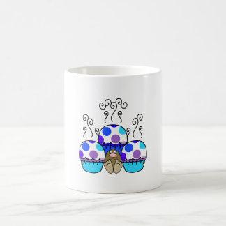 Cute Monster With Blue & Purple Polkadot Cupcakes Mug