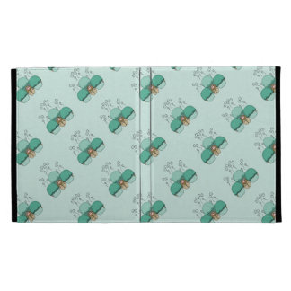 Cute Monster With Cyan Frosted Cupcakes iPad Folio Covers