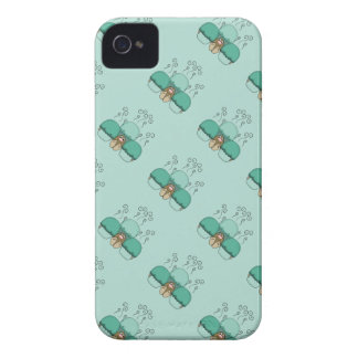 Cute Monster With Cyan Frosted Cupcakes iPhone 4 Case-Mate Case