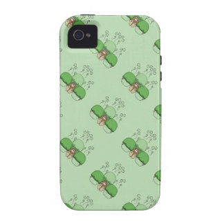Cute Monster With Green Frosted Cupcakes iPhone 4 Covers
