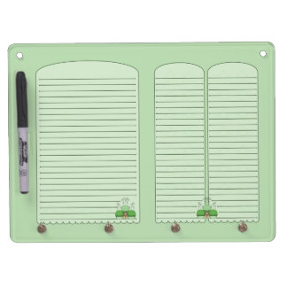 Cute Monster With Green Frosted Cupcakes Dry-Erase Boards
