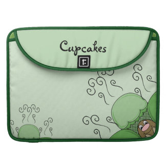 Cute Monster With Green Frosted Cupcakes MacBook Pro Sleeve