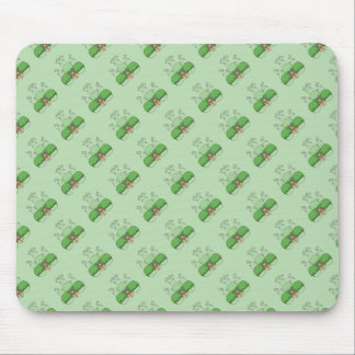 Cute Monster With Green Frosted Cupcakes Mouse Pads