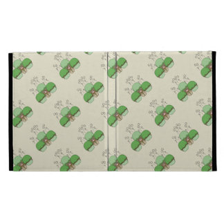 Cute Monster With Green & Yellow Frosted Cupcakes iPad Cases