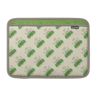 Cute Monster With Green & Yellow Frosted Cupcakes Sleeves For MacBook Air