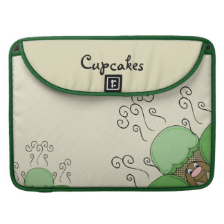 Cute Monster With Green & Yellow Frosted Cupcakes Sleeve For MacBook Pro