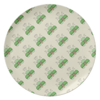 Cute Monster With Green & Yellow Frosted Cupcakes Dinner Plate