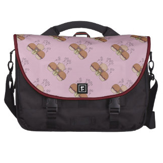 Cute Monster With Orange And Pink Frosted Cupcakes Computer Bag